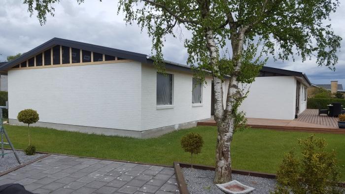 Tilbygning i forbindelse med renovering af villa